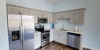 Remodeled kitchen in clubhouse