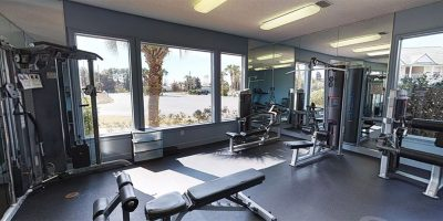 Workout room equipment